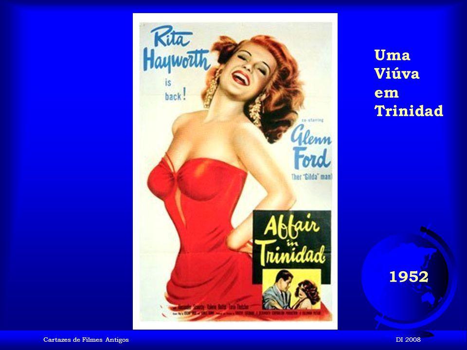 Uma Viúva em Trinidad 1952 Cartazes de Filmes Antigos DI 2008