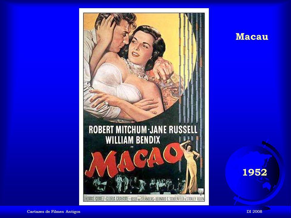 Macau 1952 Cartazes de Filmes Antigos DI 2008