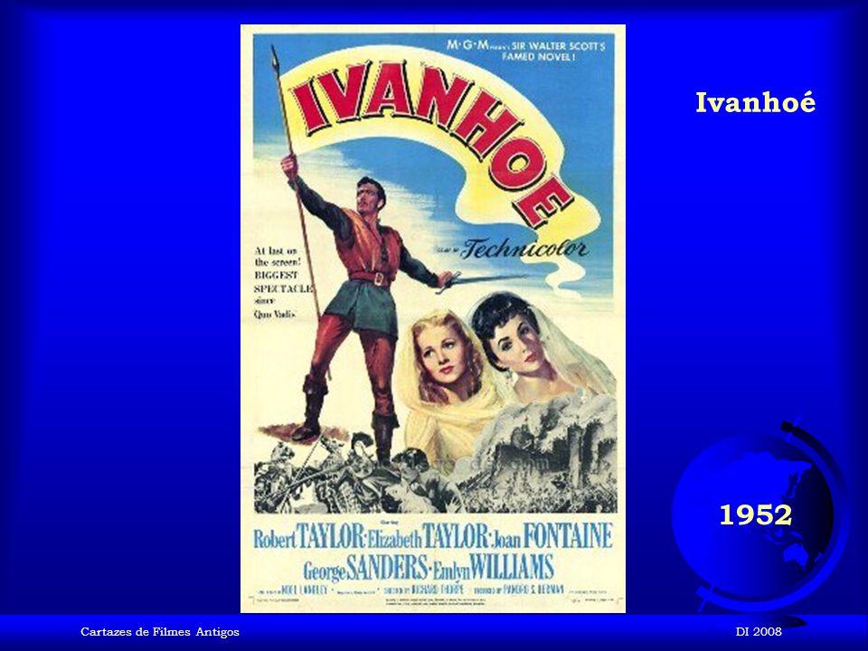 Ivanhoé 1952 Cartazes de Filmes Antigos DI 2008