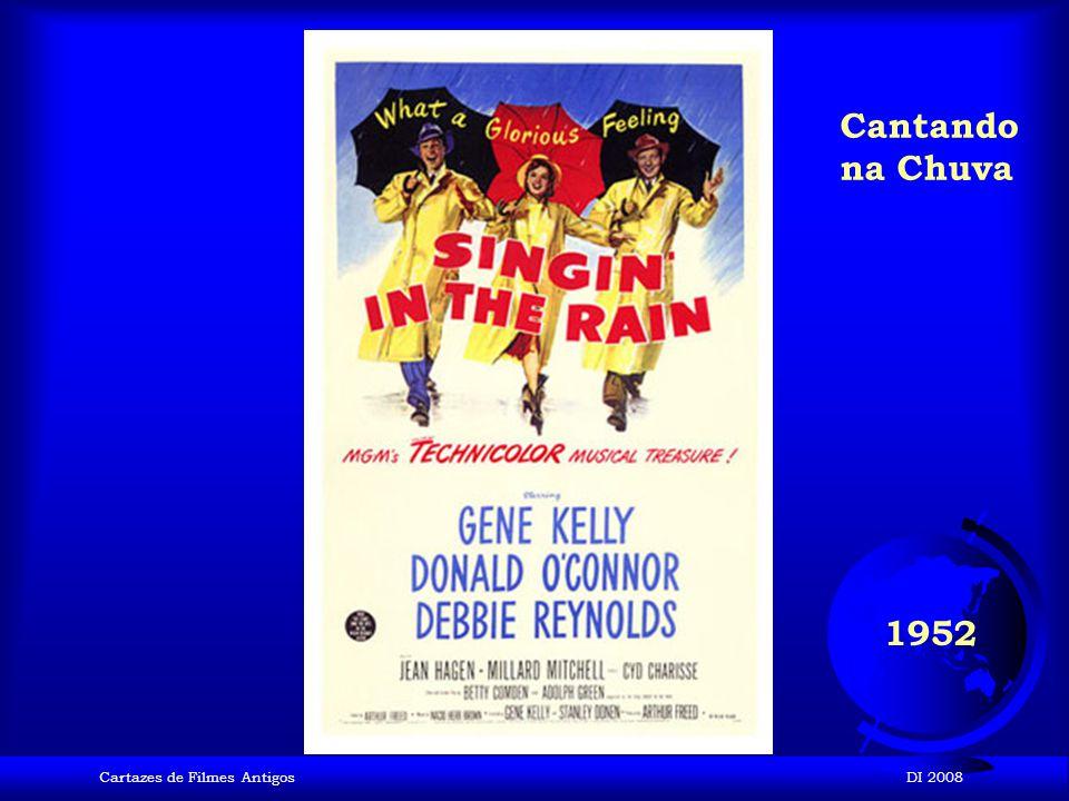 Cantando na Chuva 1952 Cartazes de Filmes Antigos DI 2008
