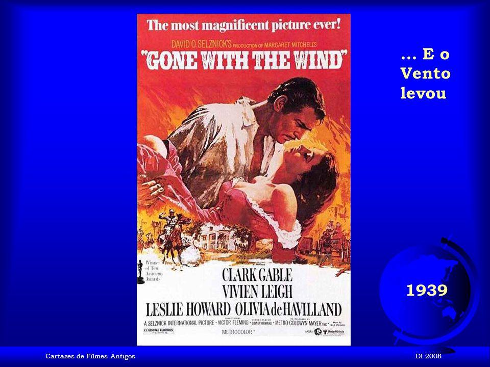 ... E o Vento levou 1939 Cartazes de Filmes Antigos DI 2008