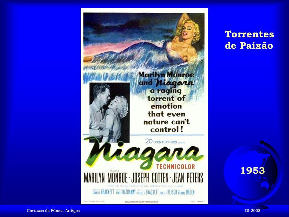 Torrentes de Paixão 1953 Cartazes de Filmes Antigos DI 2008