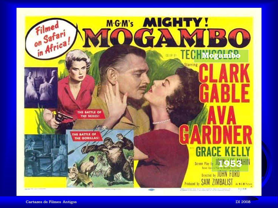 Mogambo 1953 Cartazes de Filmes Antigos DI 2008