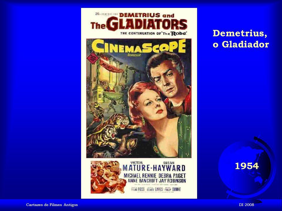Demetrius, o Gladiador 1954 Cartazes de Filmes Antigos DI 2008