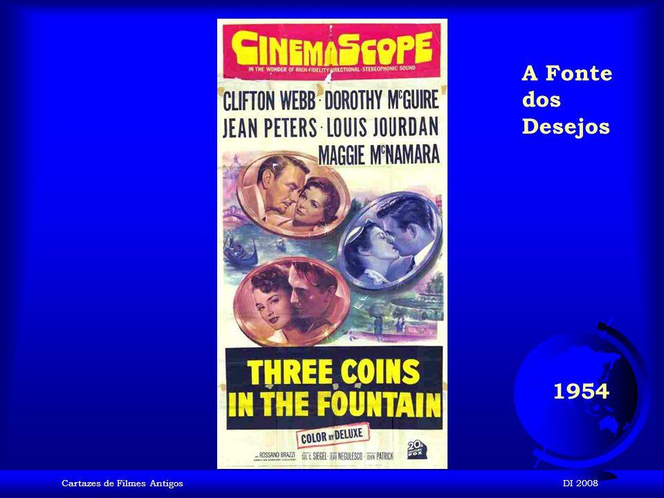 A Fonte dos Desejos 1954 Cartazes de Filmes Antigos DI 2008