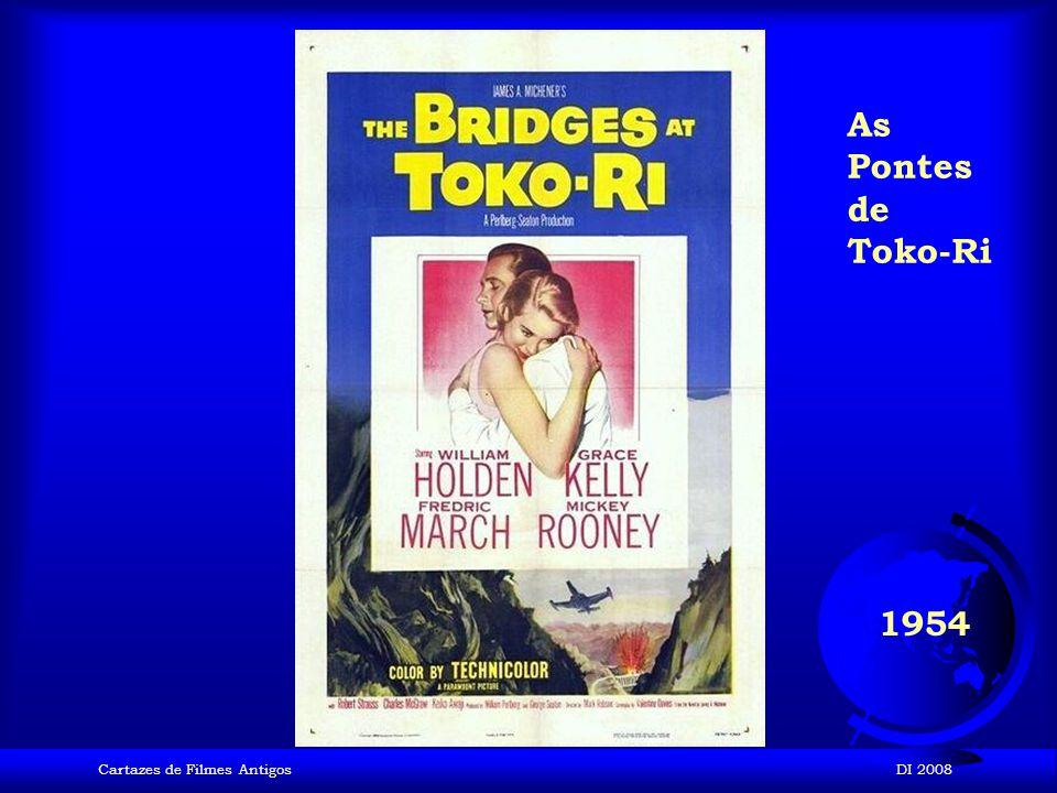 As Pontes de Toko-Ri 1954 Cartazes de Filmes Antigos DI 2008