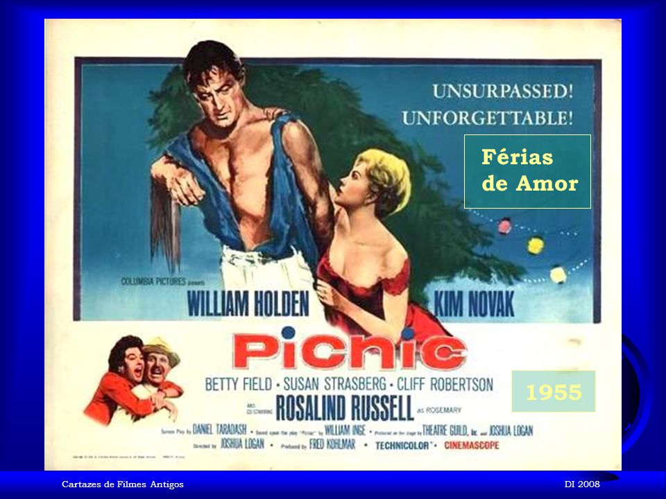 Férias de Amor 1955 Cartazes de Filmes Antigos DI 2008