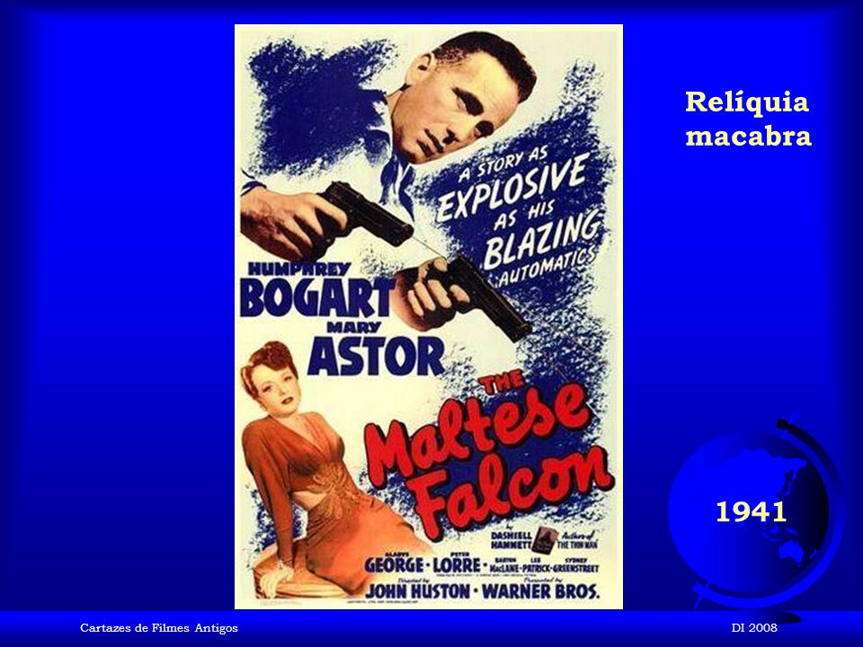 Relíquia macabra 1941 Cartazes de Filmes Antigos DI 2008