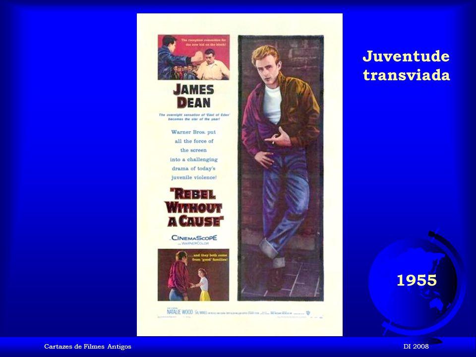 Juventude transviada 1955 Cartazes de Filmes Antigos DI 2008