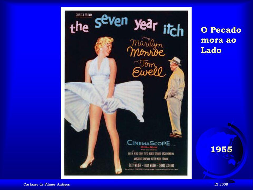 O Pecado mora ao Lado 1955 Cartazes de Filmes Antigos DI 2008