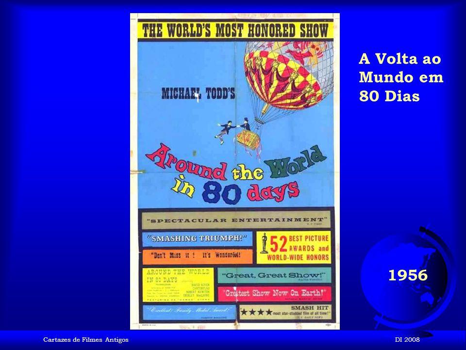 A Volta ao Mundo em 80 Dias 1956 Cartazes de Filmes Antigos DI 2008