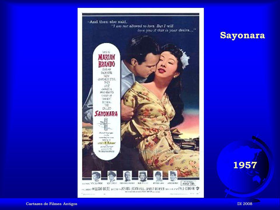 Sayonara 1957 Cartazes de Filmes Antigos DI 2008