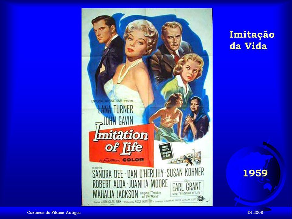 Imitação da Vida 1959 Cartazes de Filmes Antigos DI 2008