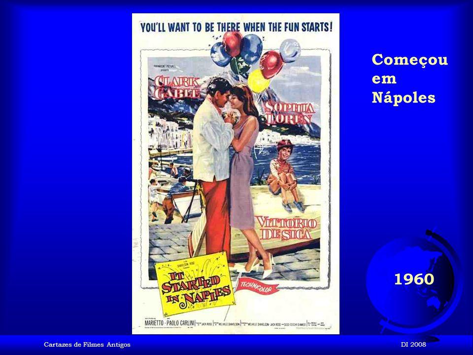 Começou em Nápoles 1960 Cartazes de Filmes Antigos DI 2008