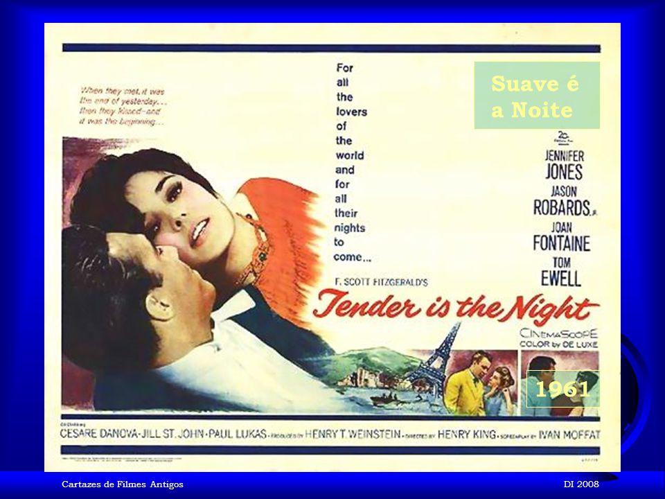 Suave é a Noite 1961 Cartazes de Filmes Antigos DI 2008