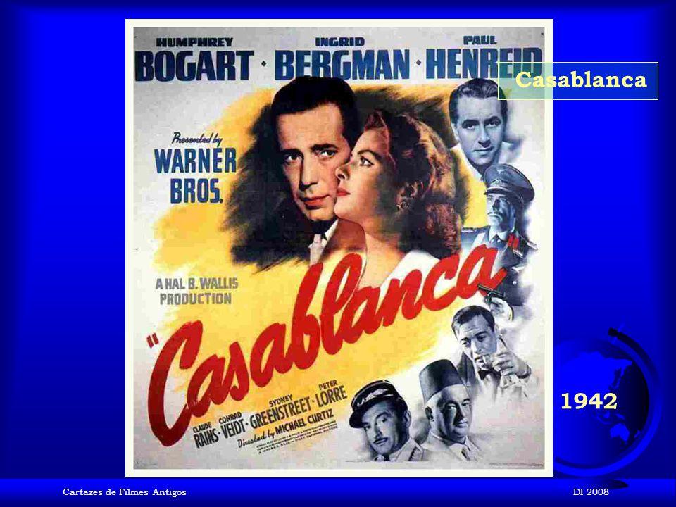 Casablanca 1942 Cartazes de Filmes Antigos DI 2008