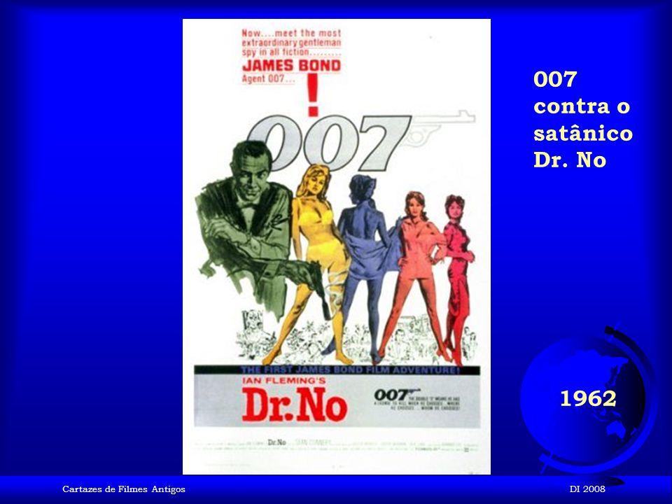 007 contra o satânico Dr. No 1962 Cartazes de Filmes Antigos DI 2008