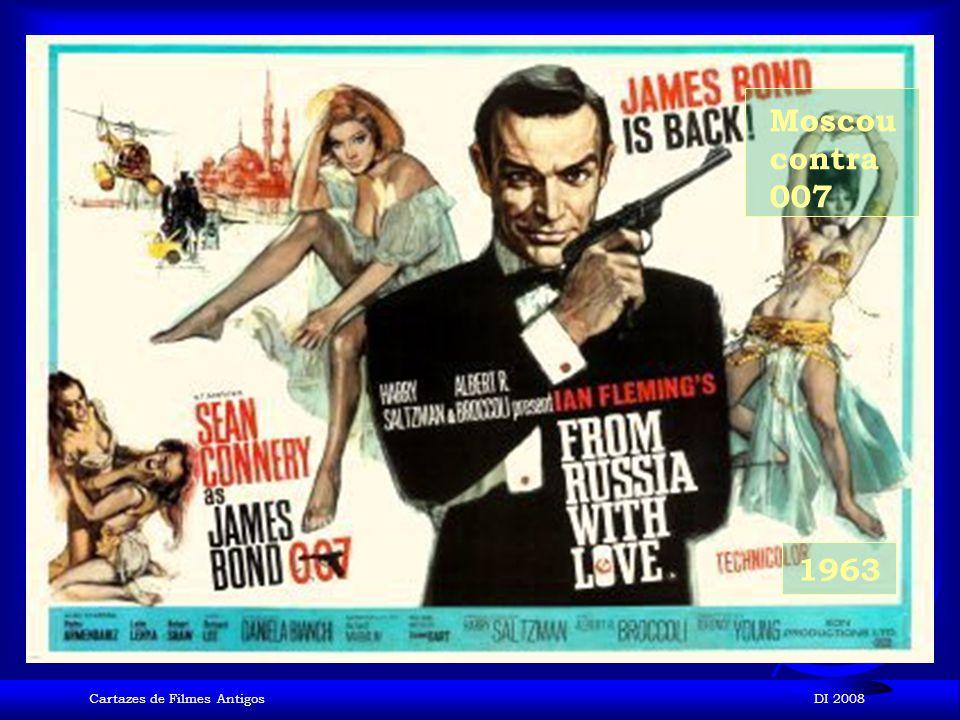Moscou contra 007 1963 Cartazes de Filmes Antigos DI 2008