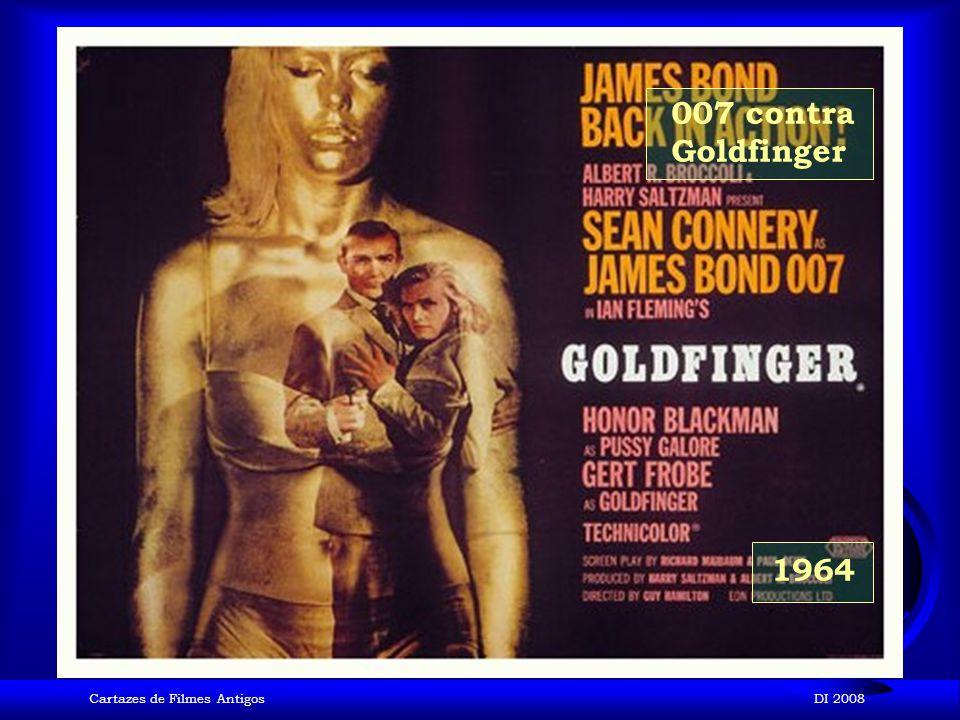 007 contra Goldfinger 1964 Cartazes de Filmes Antigos DI 2008