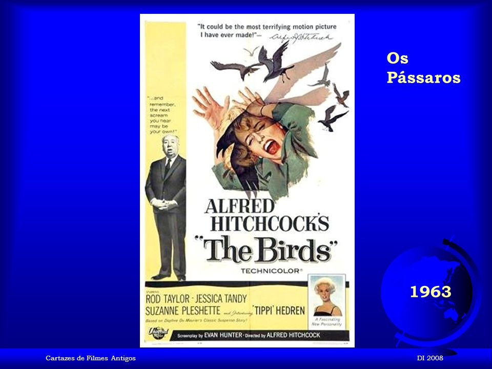 Os Pássaros 1963 Cartazes de Filmes Antigos DI 2008