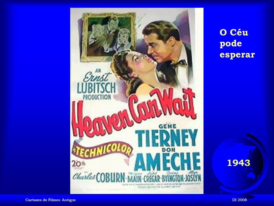 O Céu pode esperar 1943 Cartazes de Filmes Antigos DI 2008