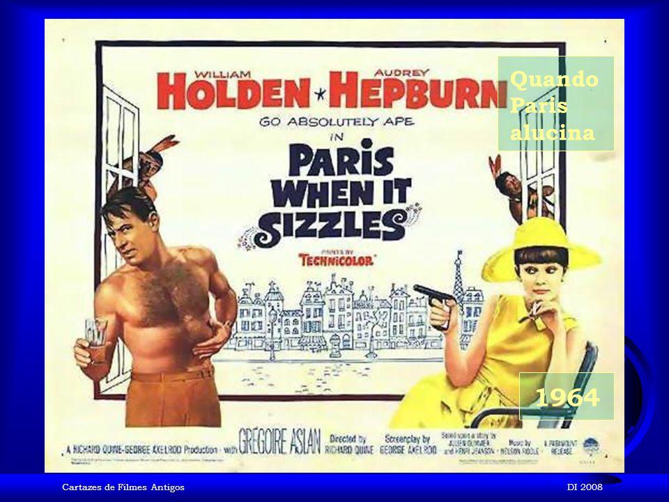 Quando Paris alucina 1964 Cartazes de Filmes Antigos DI 2008
