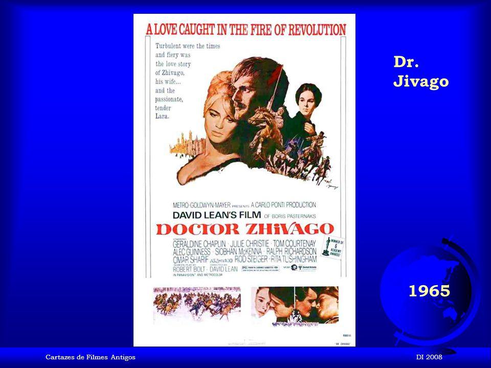 Dr. Jivago 1965 Cartazes de Filmes Antigos DI 2008