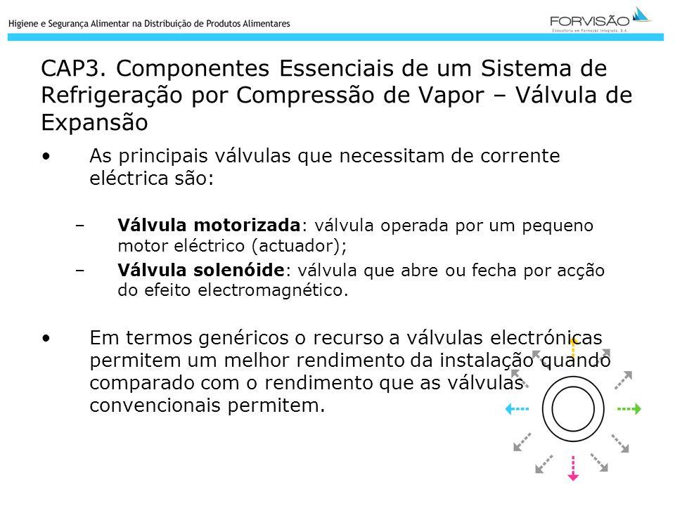 CAP3. Componentes Essenciais de um Sistema de Refrigeração por Compressão de Vapor – Válvula de Expansão