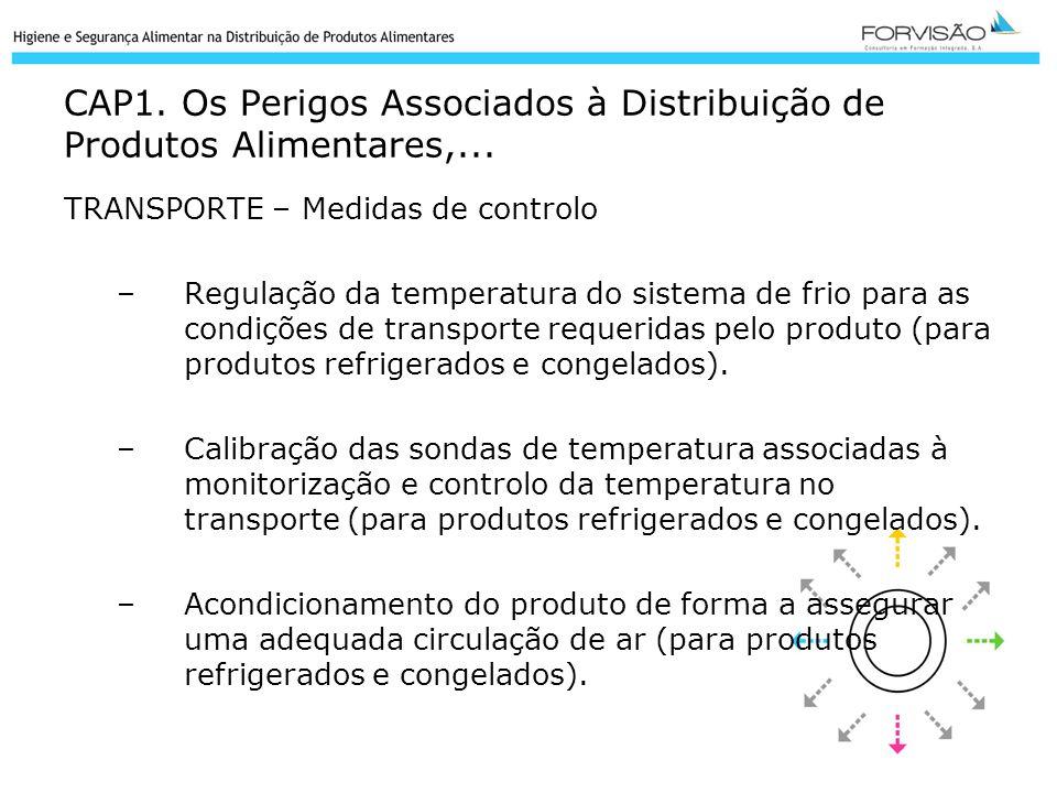CAP1. Os Perigos Associados à Distribuição de Produtos Alimentares,...