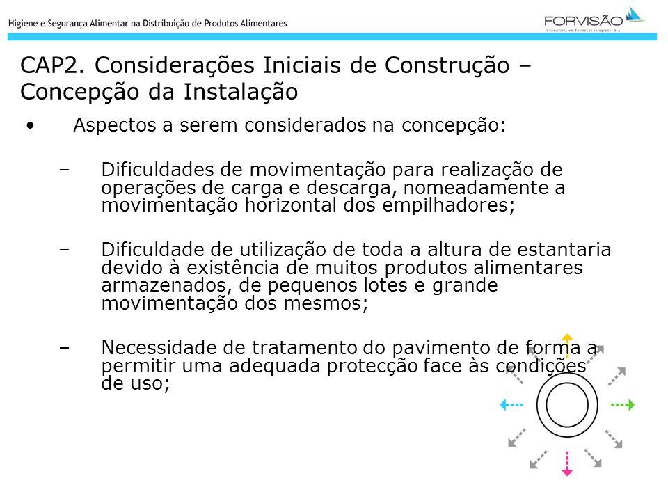CAP2. Considerações Iniciais de Construção – Concepção da Instalação