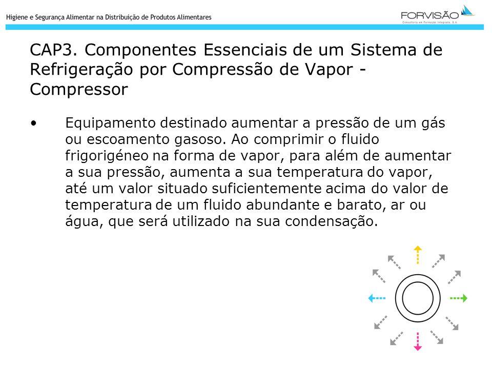 CAP3. Componentes Essenciais de um Sistema de Refrigeração por Compressão de Vapor - Compressor