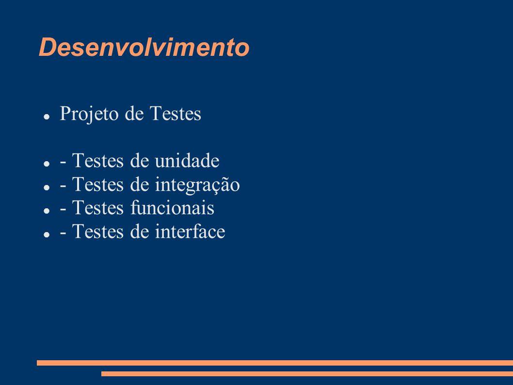 Desenvolvimento Projeto de Testes - Testes de unidade