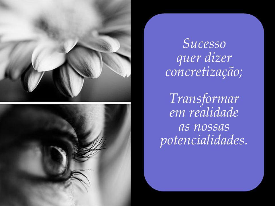 quer dizer concretização; Transformar em realidade