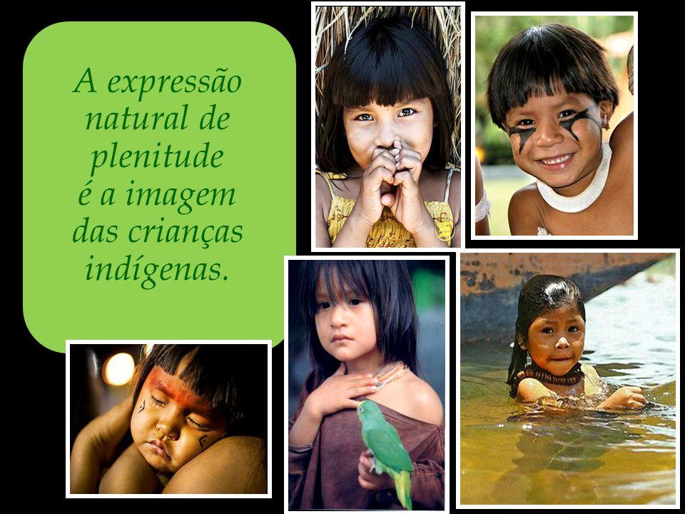das crianças indígenas.