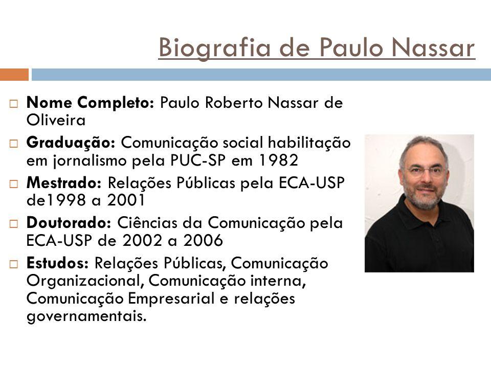 Biografia de Paulo Nassar