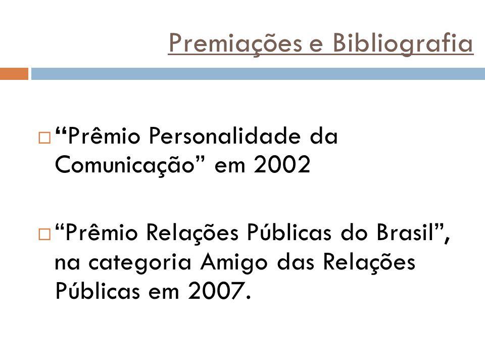 Premiações e Bibliografia