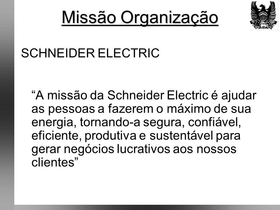 Missão Organização SCHNEIDER ELECTRIC