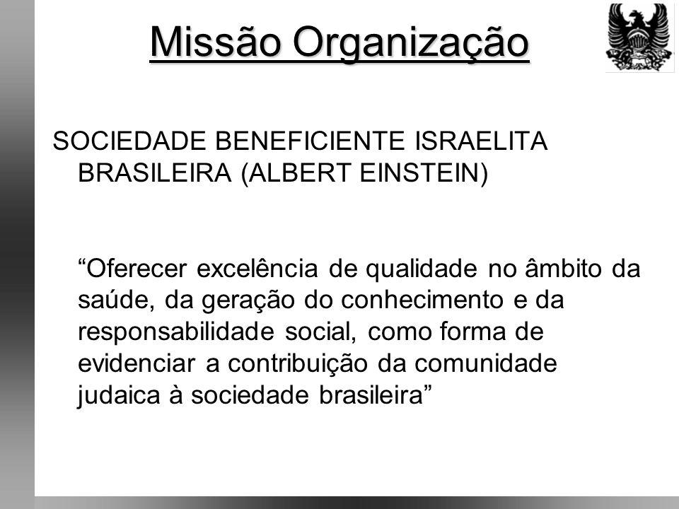 Missão Organização SOCIEDADE BENEFICIENTE ISRAELITA BRASILEIRA (ALBERT EINSTEIN)