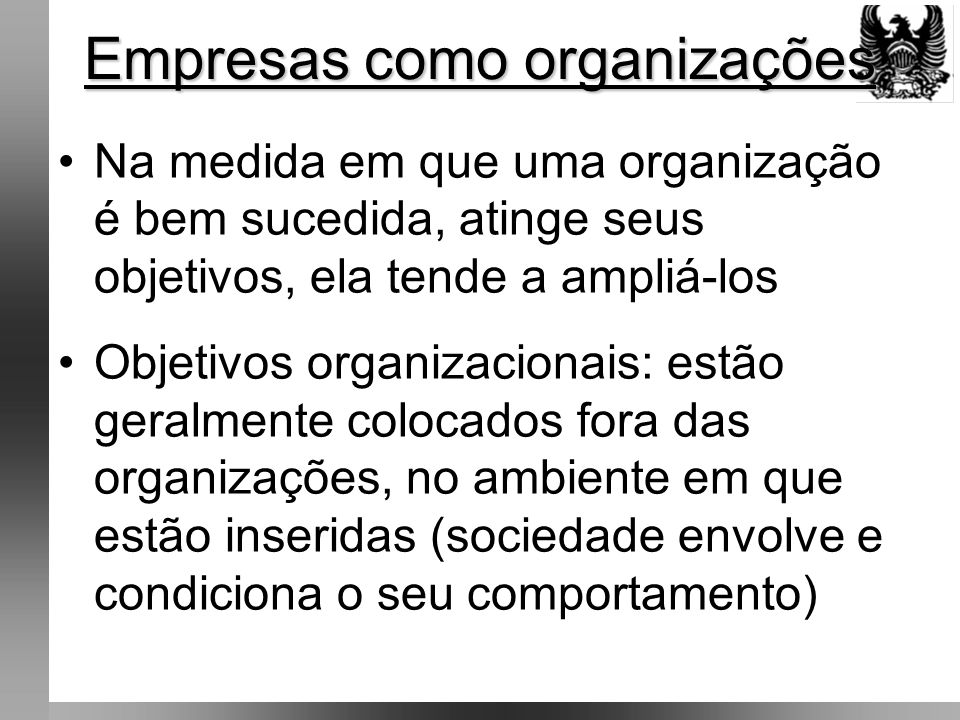 Empresas como organizações