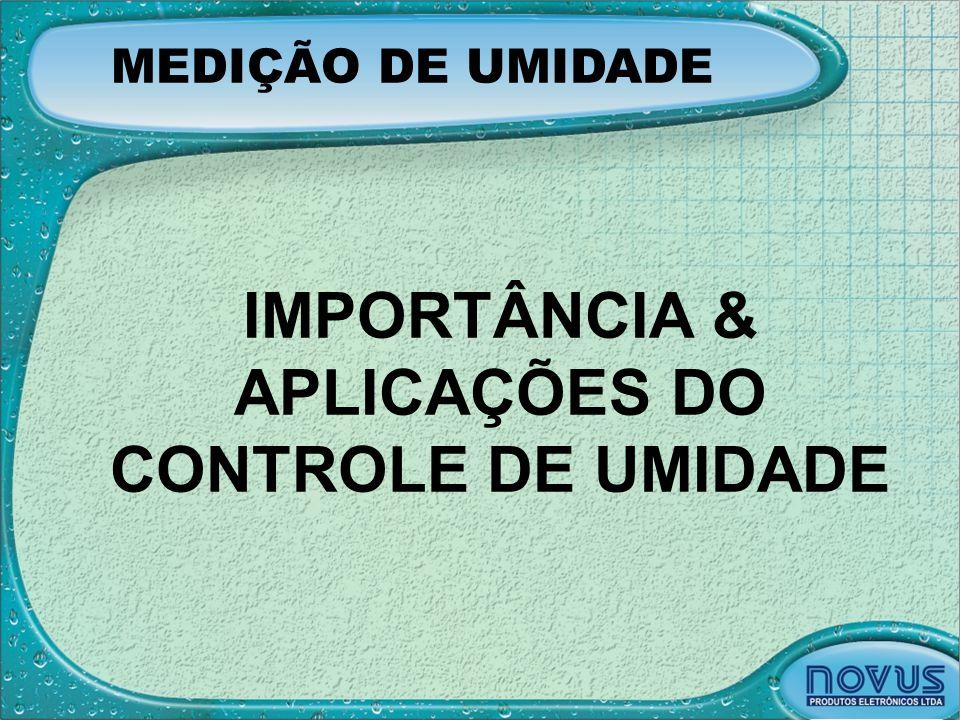 IMPORTÂNCIA & APLICAÇÕES DO CONTROLE DE UMIDADE
