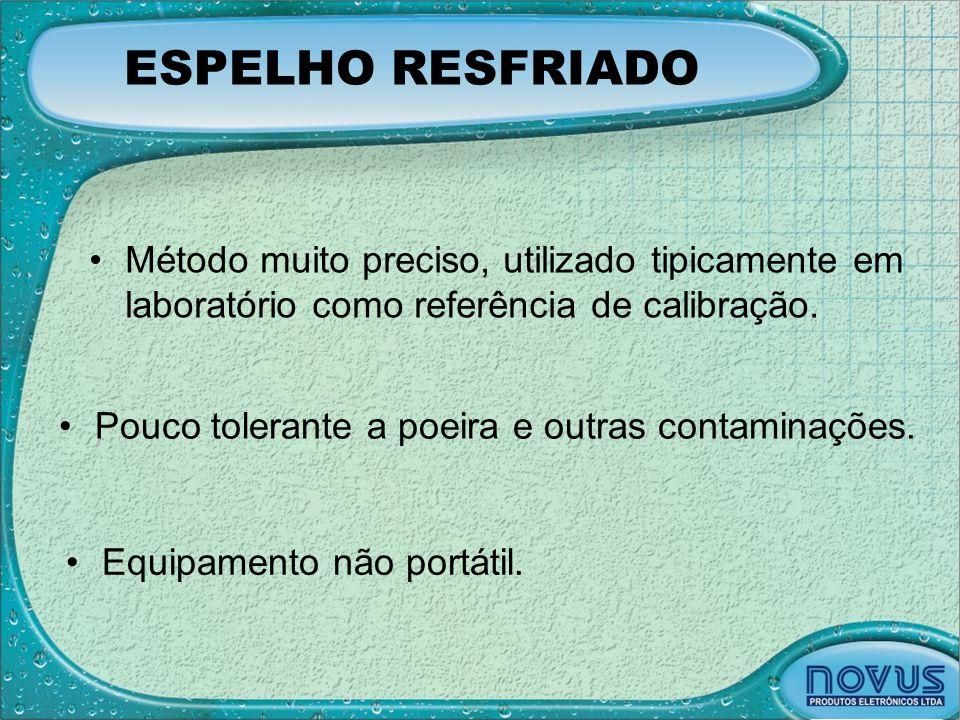 ESPELHO RESFRIADO Método muito preciso, utilizado tipicamente em laboratório como referência de calibração.