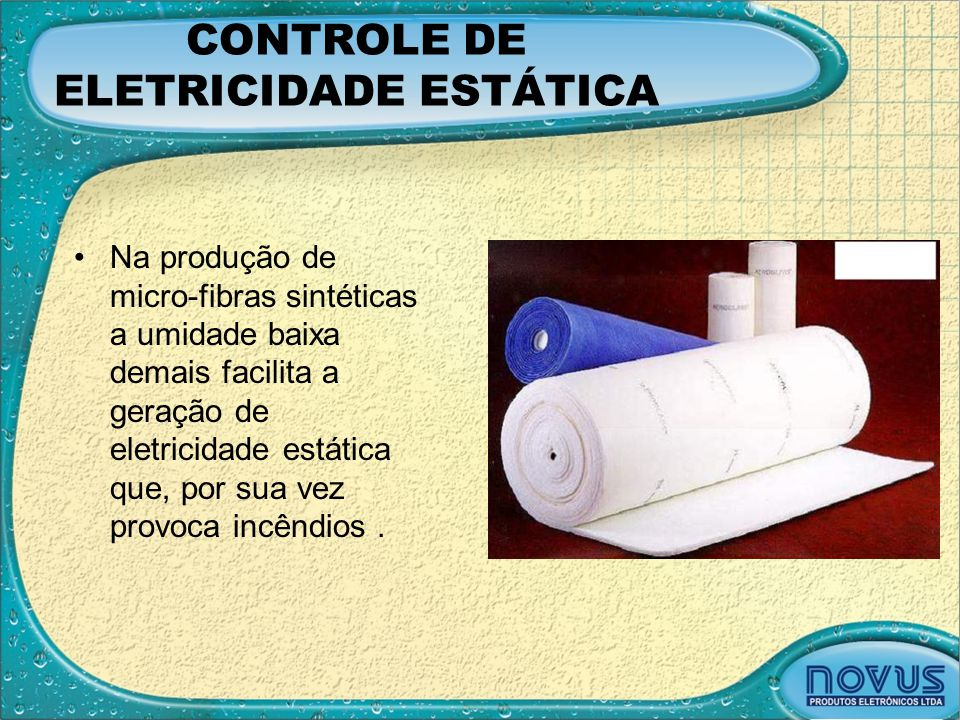CONTROLE DE ELETRICIDADE ESTÁTICA