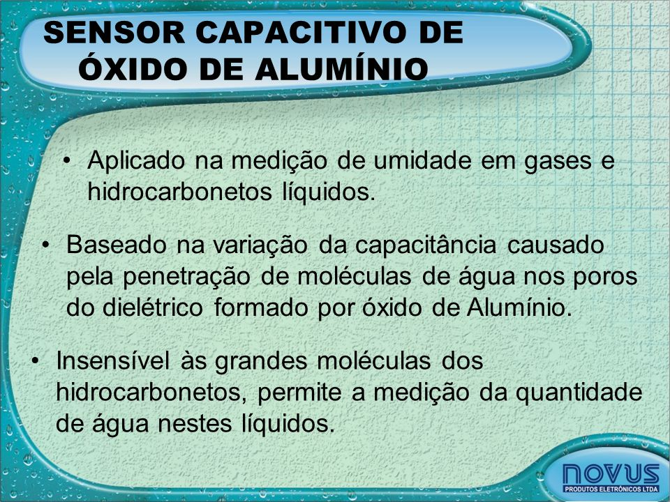 SENSOR CAPACITIVO DE ÓXIDO DE ALUMÍNIO
