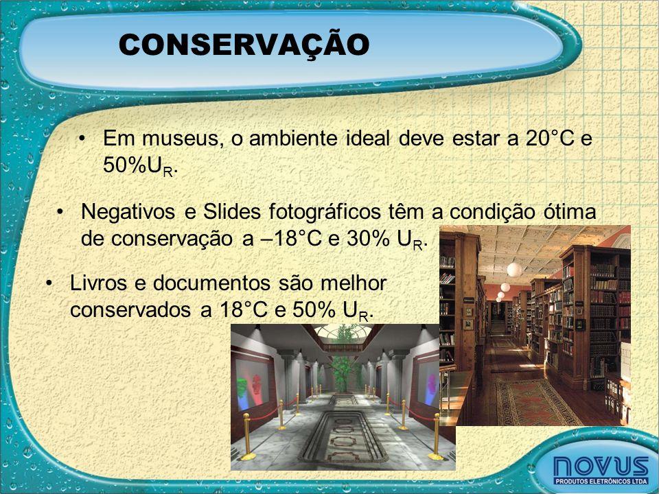 CONSERVAÇÃO Em museus, o ambiente ideal deve estar a 20°C e 50%UR.