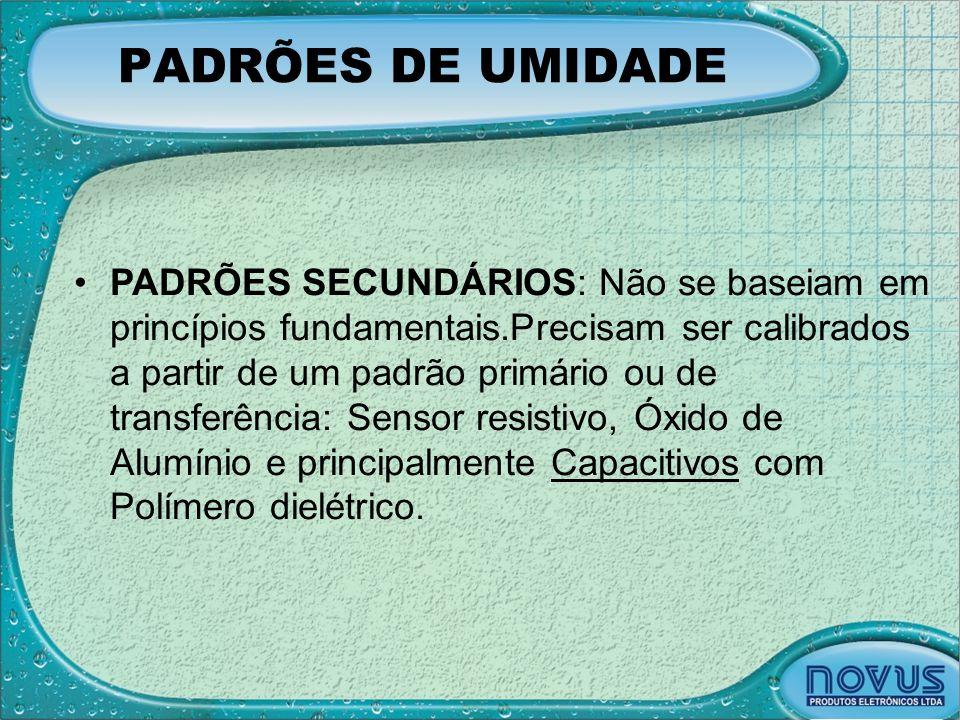 PADRÕES DE UMIDADE