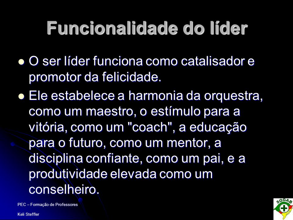 Funcionalidade do líder