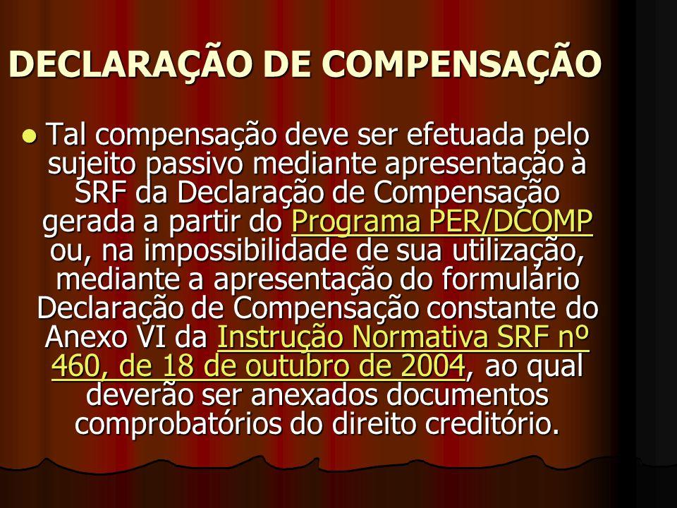 DECLARAÇÃO DE COMPENSAÇÃO