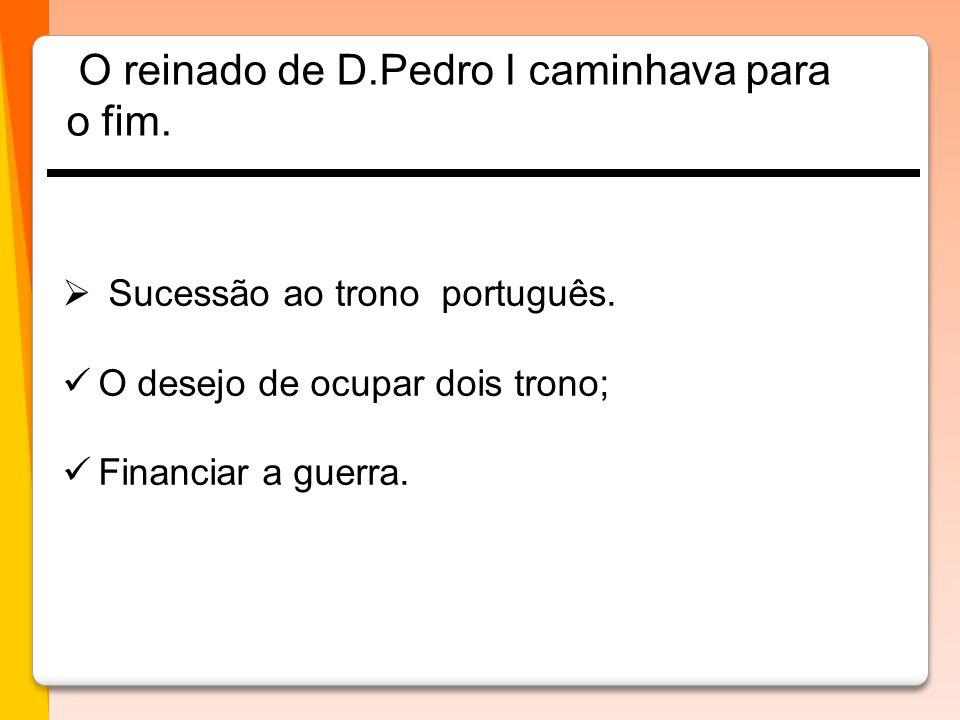 Sucessão ao trono português. O desejo de ocupar dois trono;