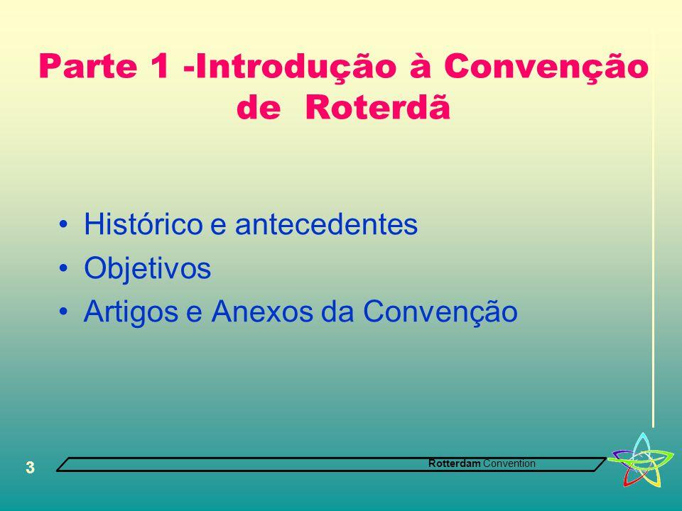 Parte 1 -Introdução à Convenção de Roterdã