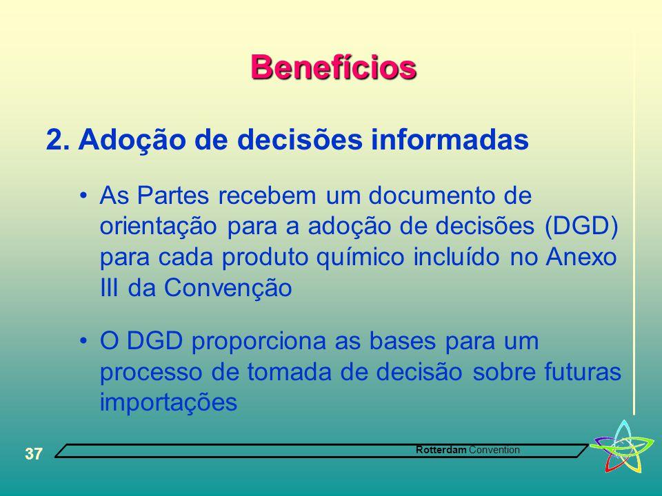 Benefícios 2. Adoção de decisões informadas
